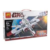 LELE 35004 420Pcs Lot Star Wars Figures ARC 170 Starfighter Model Building Kits Blocks Bricks Toys