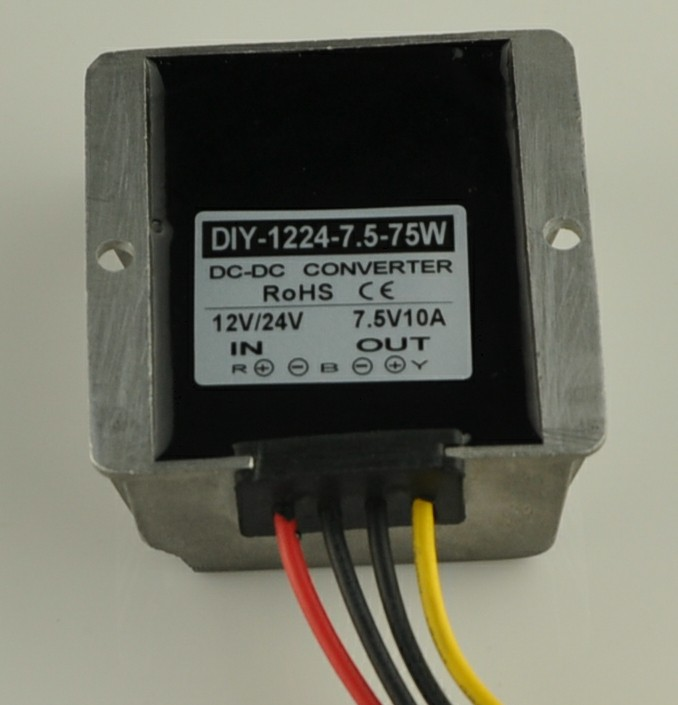 цена на 12V24V(10-40V)Step Down 7.5V 10A 75W DC DC Converter Buck Module Car Power Converter Supply Adapter Voltage Regulator Waterproof