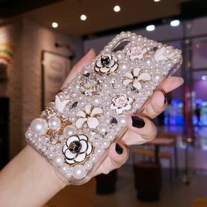 Image 5 - Iphone 11 Pro Max durumda lüks İnciler arı elmas yumuşak silikon akıllı telefon kılıfı IPhone 12 X XS MAX XR 6 6S 7 8 artı kapak