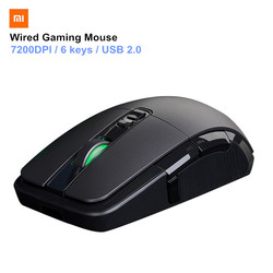 Xiaomi Wired Gaming Mouse 7200DPI Game Optical Sensor 2.4G RGB Colorful Lights Ergonomic design Fast Aiming Mouse for PC Laptop