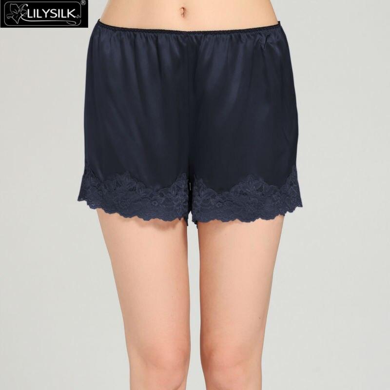 Lilysilk Camisole Robe Set 100% Real Silk Nightwear Shorts Women 22 Momme  Lace Lingerie Luxury Solid Pure Short Sleepwear-in Robe   Gown Sets from  Underwear ... bac1adef5