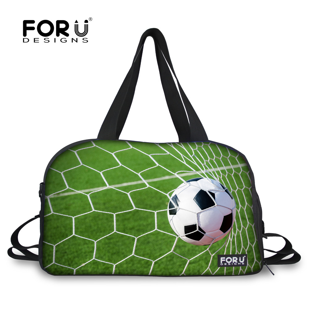 FORUDESIGNS Footbsll Gym Sport Bags Duffle Workout Bag for Men 28L Capacity Fitness Travel Handbag Unisex