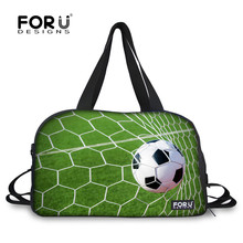 FORUDESIGNS Footbsll Gym Sport Bags Duffle Workout Bag for Men 28L Capacity Fitness Travel Handbag Unisex Athletic Training Bags