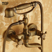 Hot sales antique bathtub faucet shower faucet full bathroom faucet hot and cold mixing valve shower mixer with hand shower
