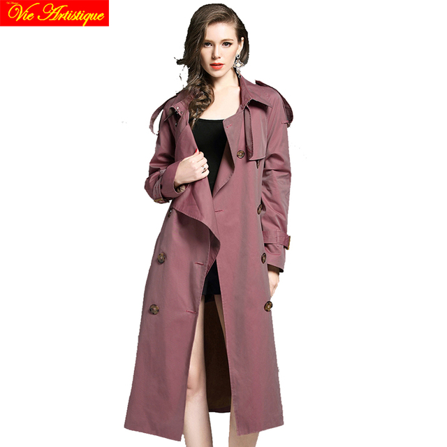 8c90ca648d6 grey Gothic coat duster trench mujer 2017 winter women s trench coat women  plus size pink long trench coat waterproof female