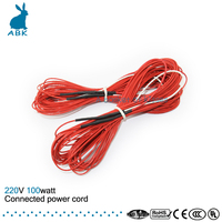 15 M 95W Heating Cable System 2 3 Mm PTFE Teflon Carbon Fiber Infrared Heating Wire