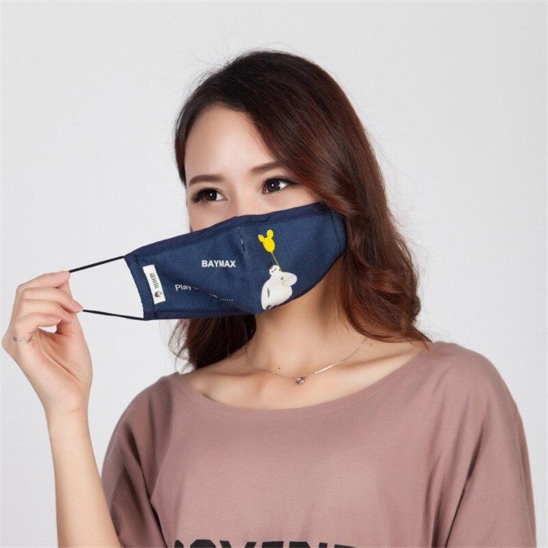 Damen-accessoires Praktisch 5 Teile/beutel Winter Herbst Und Winter Neue Weiße Maske Natürliche Leinen Staub Atmungsaktive Filter Mit Pm2.5 Anti-dunst Atmungsaktiv Masken
