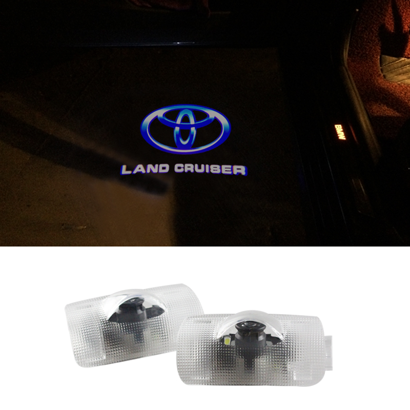 Door Light Car Ghost LED Courtesy Welcome Logo Light Lamp Shadow Projector For Toyota Land Cruiser Prado Reiz Camry Highlander 2x led car door welcome light for toyota corolla emblem logo projector lamp for toyota corolla spoiler estate levin coupe saloon