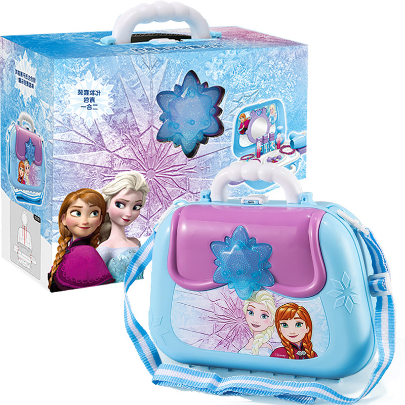 Disney Child Family Toy  Princess Frozen Children Pretend Toy Girl Kitchen Medical Equipment Backpack Suitcase Girl Toy Gift