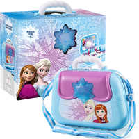 Disney enfant famille jouet princesse reine des neiges enfants semblant jouet fille cuisine équipement médical sac à dos valise fille jouet cadeau