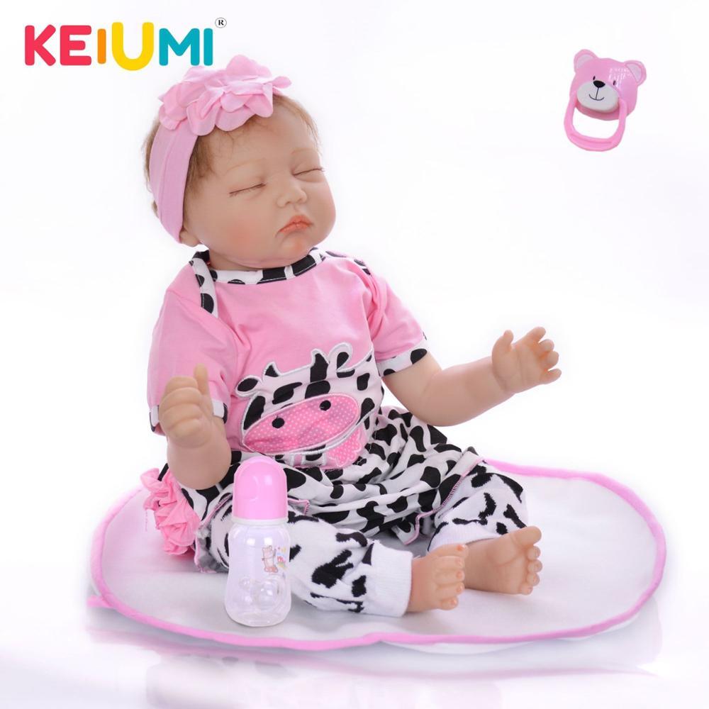 KEIUMI 55 cm Silicone Realista Boneca Reborn Bonecas de Moda Bebê Para A Princesa Bebes Reborn A Mais Recente Venda Quente Boneca de Brinquedo presente