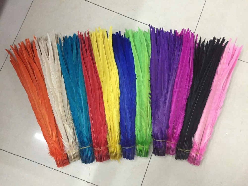 Wholesale 50 100 pcs beautiful Dyed Pheasant Feather 16 18 inches 40 45cm variety of colors