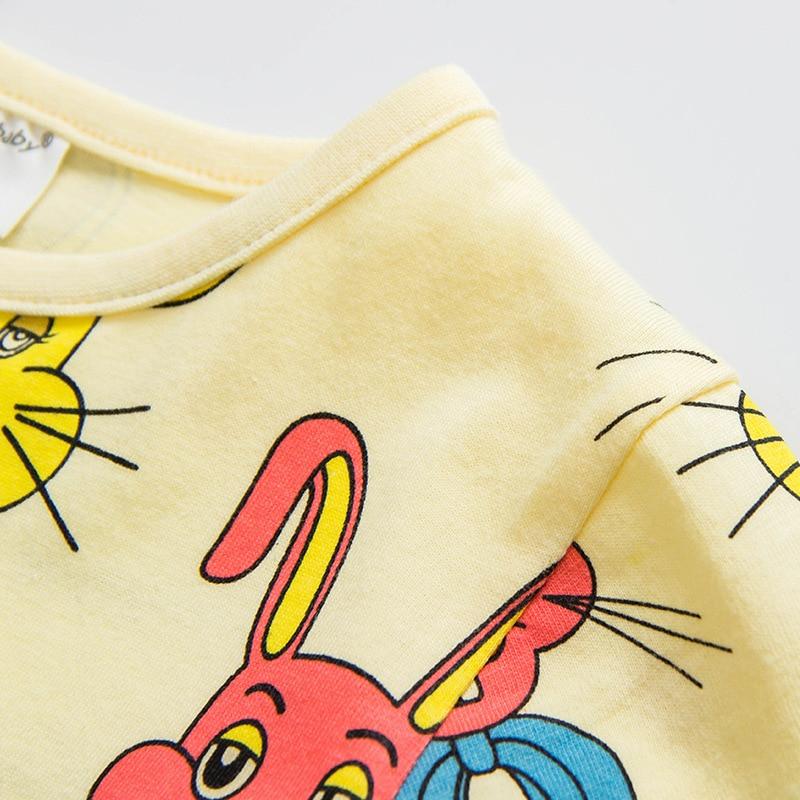 Boys Girls Koszulki Summer Unisex Cartoon Rabbit Cat Mouse Cotton - Ubrania dziecięce - Zdjęcie 3