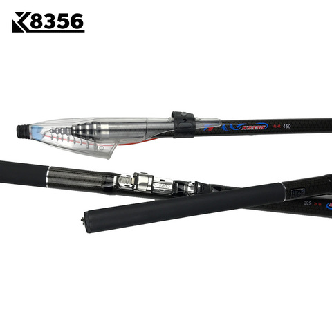 K8356 30T High Carbon Telescopic Rock Fishing Rod 2.7m 3.6M 4.5M 5.4M 3.0M 6.3M Sea Rod M Power Spinning Fishing Rod Hand Pole Karachi
