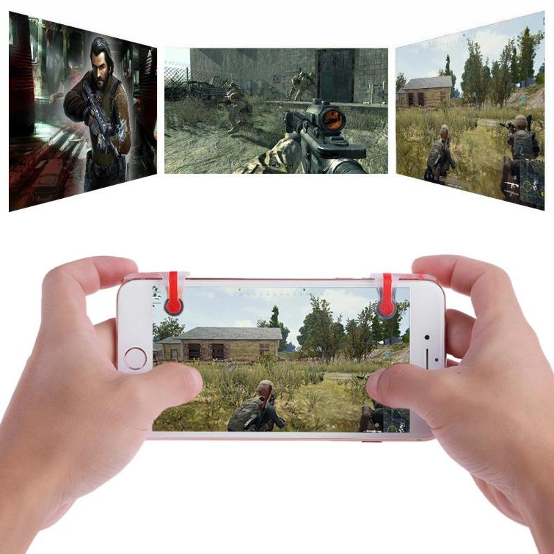 1 Pair Phone Black Joysticks Shooting Tools for STG FPS TPS Game Button Game Controller Gamepad Joypad High Quality Game Tool