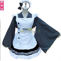 Anime Love Live Kousaka Honoka Cosplay Costume Lolita Coffee Shop Servant Maid Dress Lolita Apron Halloween