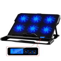 Laptop Computer Stand with 2 USB Ports 6 Cooling Fans Cooling Pad Notebook Stand Hot selling