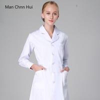 hospital Women's medical clothing scrubs nurse uniform dental clinic doctor's uniform slim fit white coat for work robe medical