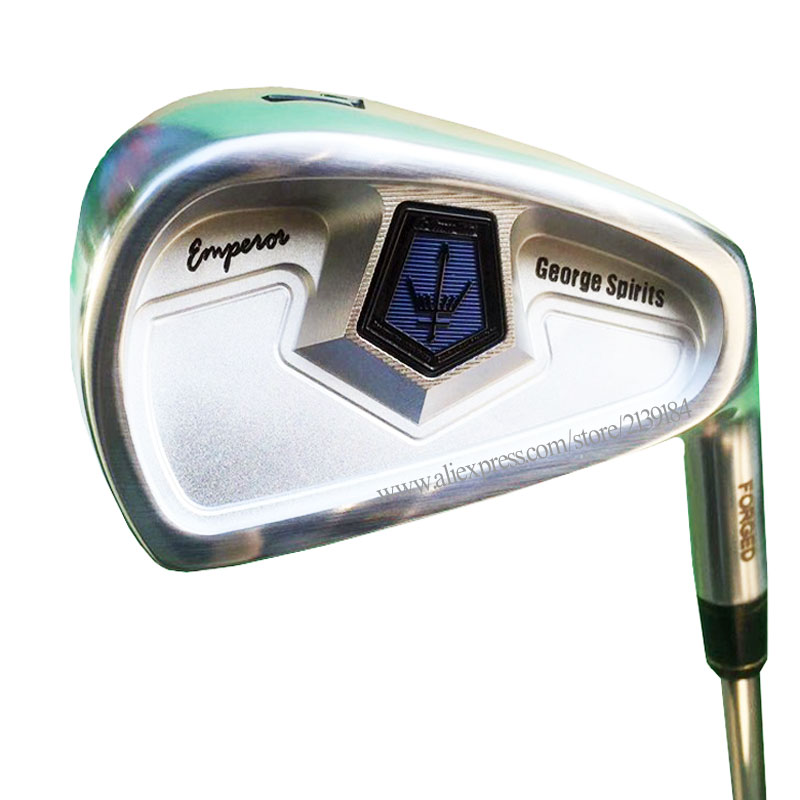 New Golf Clubs George Spirits Forged Carbon Steel Golf Irons 4-10 Clubs Irons Set Steel Shaft R Or S Golf Shaft Free Shipping