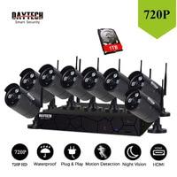 DAYTECH Surveillance System NVR Kit 720P 8 Channel Wireless NVR IP WiFi Camera Home Sercurity Waterproof