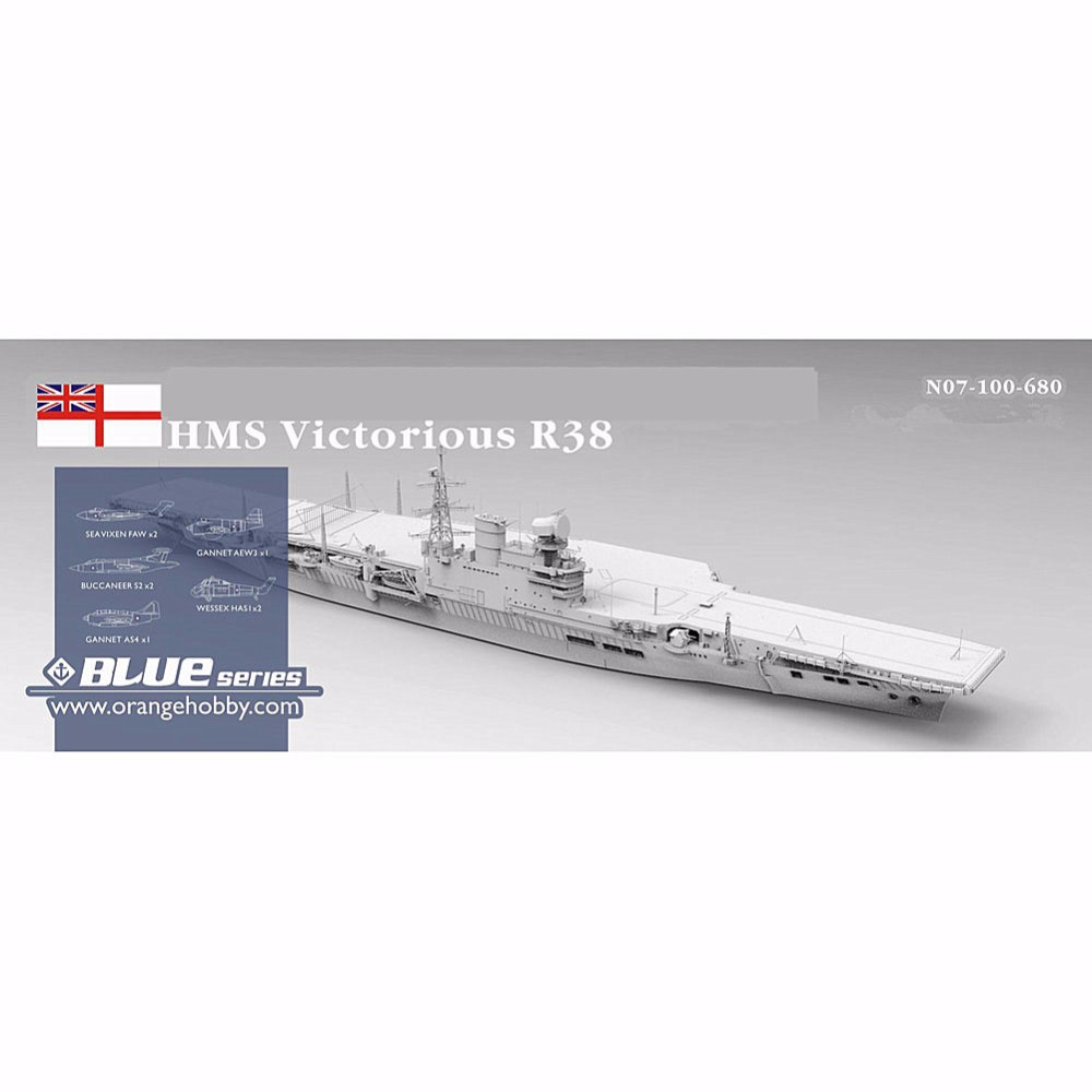 OHS Orange Hobby N07100680 1/700 HMS Victorious R38 1966  Aircraft Carrier Assembly Scale Military Ship Model Building Kits oh