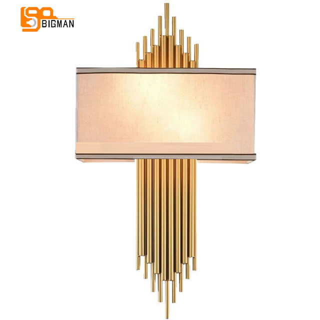 high quality gold wall lamp modern black white wall lights for home decor