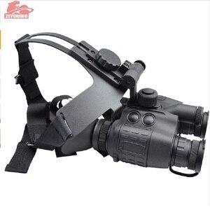 Image 5 - ZIYOUHU 赤外線ナイトビジョン双眼鏡 Hd グリーンイメージングヘルメット型ゴーグル屋外ハンティング用 1 × 26 コンパクトで耐久性の