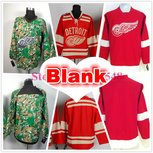 detailed look 93e9f 28651 Detroit Red Wings Blank Hockey Jersey Red Digital Camo No Number Number  Jerseys Alternate Authentic Red Wings Stitched Jersey-in Hockey Jerseys  from ...