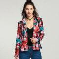 FANALA Autumn Spring Women Slim Blazer Coat 2016 New Fashion Casual Jacket Long Sleeve Floral Suit Ladies Blazers Work Wear