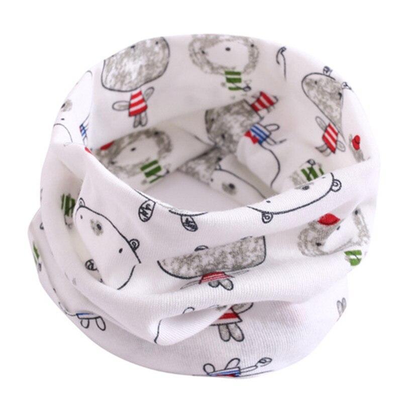Весенний детский хлопковый шарф, теплый шарф для маленьких детей, осенне-зимние шарфы с героями мультфильмов для мальчиков и девочек, детский воротник с круглым вырезом, волшебный шейный платок - Цвет: 33