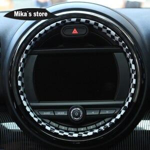 Image 4 - Auto Adesivo Interior Centro Console Caso Capa Da Shift de Engrenagem Decoração Etiqueta Para mini cooper Countryman F60 Car styling 9PCS
