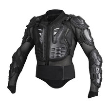 Negro Motocicletas Armor Protector motocross Chaqueta de la Ropa de Protección Moto Cross Volver Armadura Protector de La Motocicleta Chaquetas
