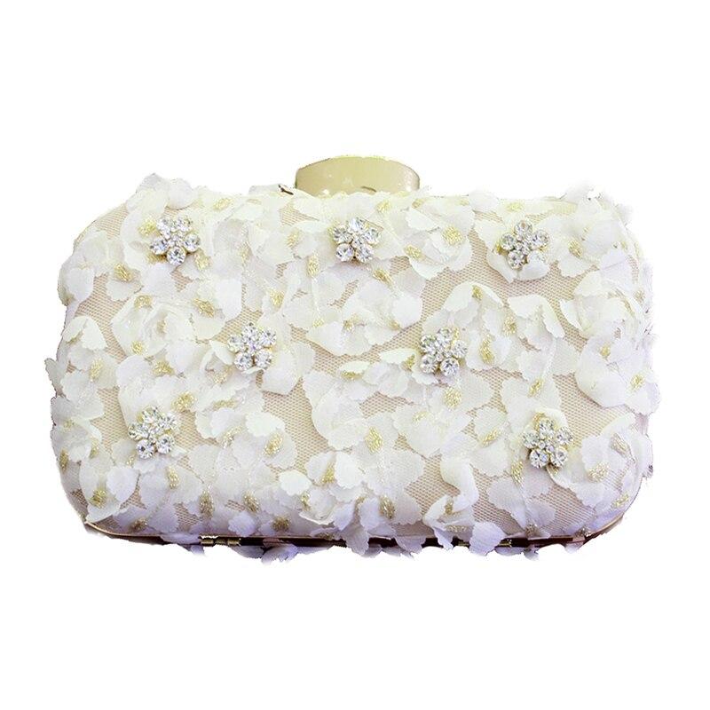 2016 Ladies Crystal Rhinestone Lace Clutch Chain Party Bags Fashion Women Evening Bags Bridal Wedding Purse bolsas mujer топ quelle melrose 392231