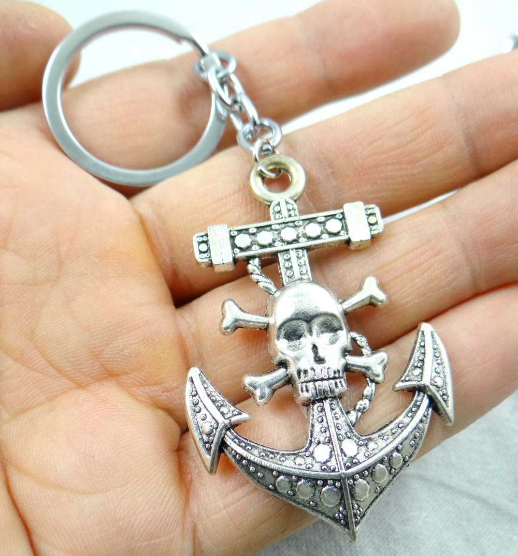 Stylish Punk Gothic Skull Skeleton Charm Pendant Keyring Key Chain Xmas Gift
