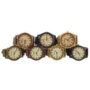 Image 3 - BEWELL לשני המינים זברה במבוק עץ שעון Mens שעונים למעלה מותג יוקרה נשים שעונים בד להקת עץ גברים ספורט שעון 124B