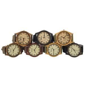 Image 3 - Bewell Unisex Zebra Bamboe Hout Horloge Heren Horloges Top Brand Luxe Vrouwen Horloges Canvas Band Houten Mannen Sport Horloge 124B