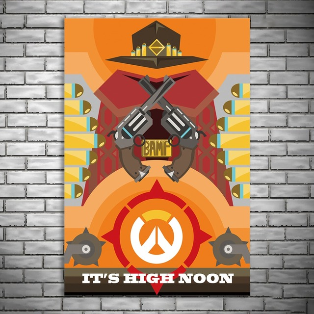 NUOMEGE Overwatchs Game Artwork Silk Canvas Art Poster Paintings Print Wall Pictures For Living Room Home Decoration Unframe 5