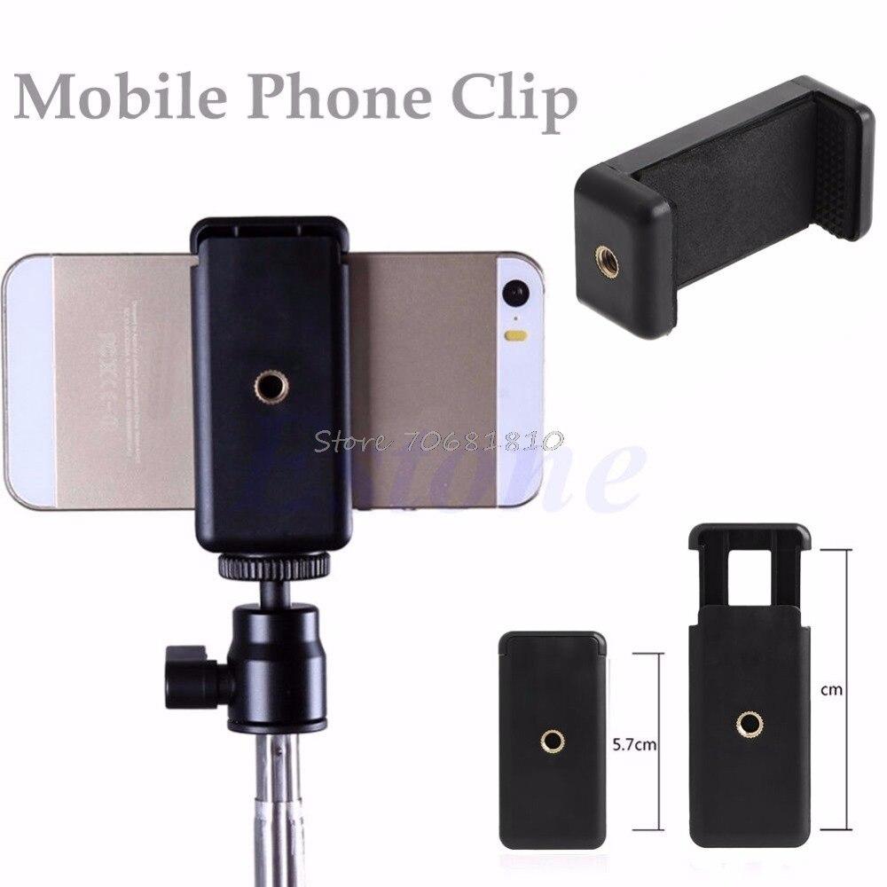Мини мобильный телефон Камера штатив Стенд клип кронштейн держатель адаптер Подставки для HTC для iPhone 6 # K400Y # прямая поставка