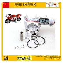 47cc 49cc карманный велосипед 44 мм 40 мм поршневое кольцо штырь набор аксессуаров 2 тактный pit Мини Мото велосипед atv quad двигатель Газовый скутер запчасти