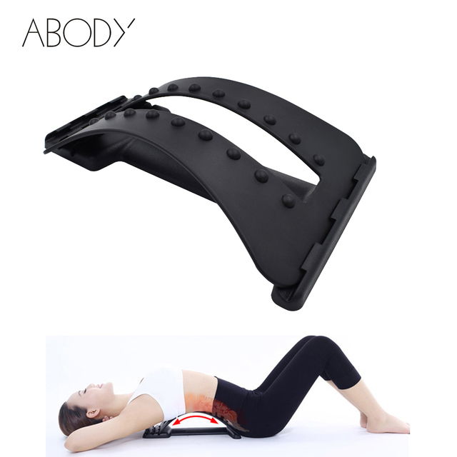 Massager For Back Massage Magic Stretcher Body Fitness Equipment Stretch  Lumbar Relaxation Mate Spinal Pain Relieve Chiropractor
