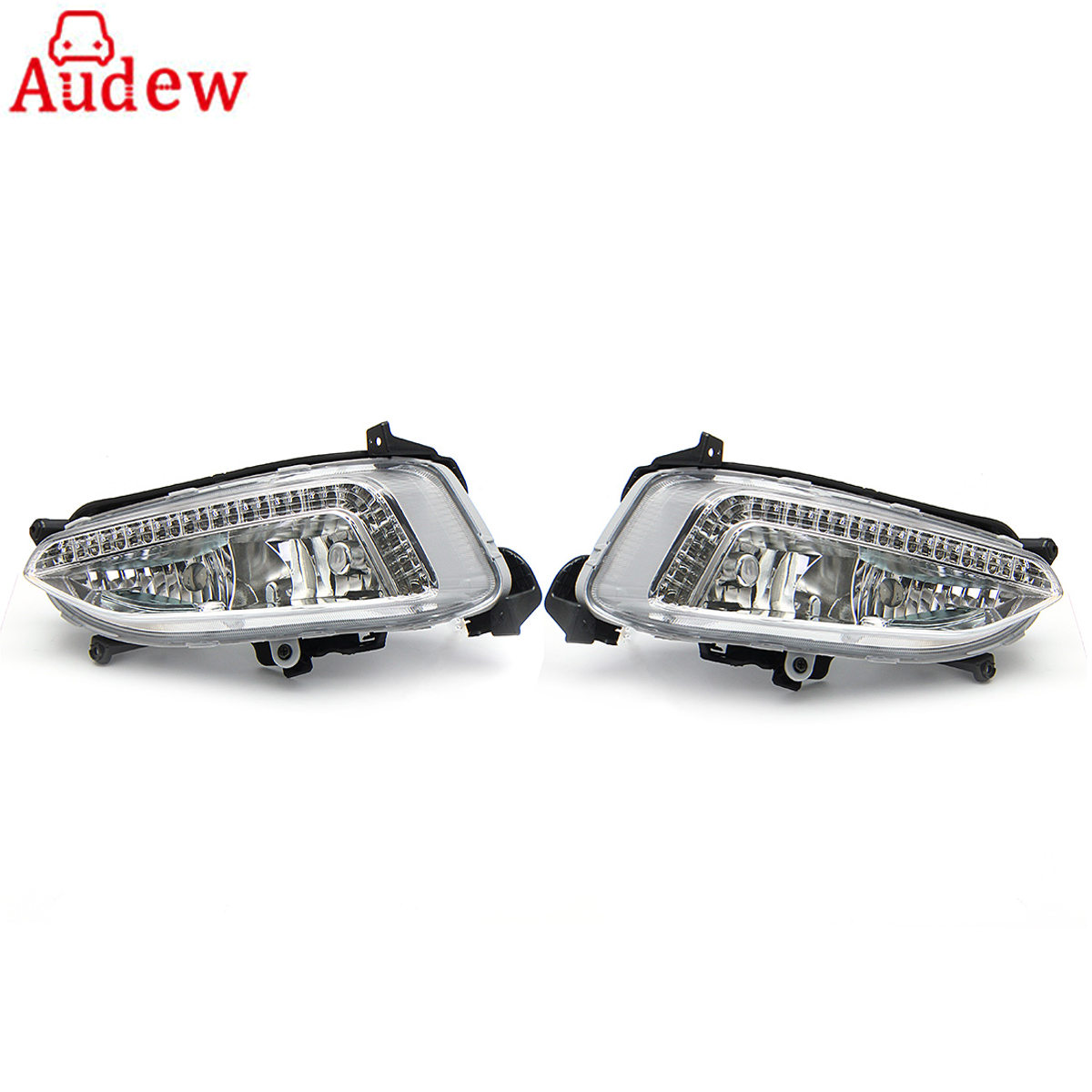 1Pair LED Car Light Assembly DRL Daytime Running Light Fog Lamp For Hyundai IX45 Santa Fe 2013 2014 DC 12V 5500K~6500K 2pcs car led drl daytime running light for hyundai ix45 2013 2014 2015 fog light drl fog lamp 12 led 1pair lot