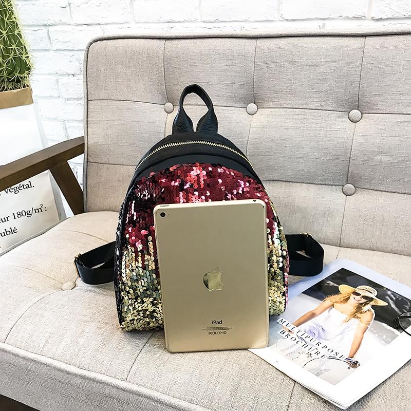 Backpacks women Korean mini 2018 new sequined shell fashion trend women go with small backpacks travel backpack 69