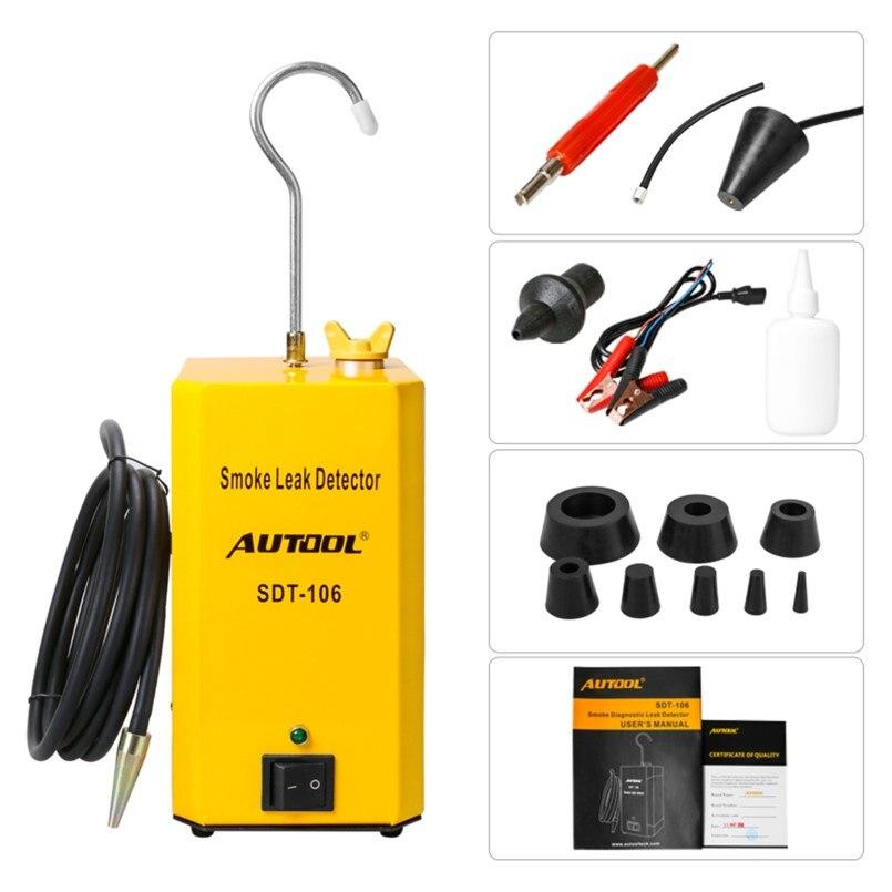 Autool SDT 106 EVAP Automotive Smoke Leak Detector Car Pipe Leakage Tester Fuel Leak Locator Universal