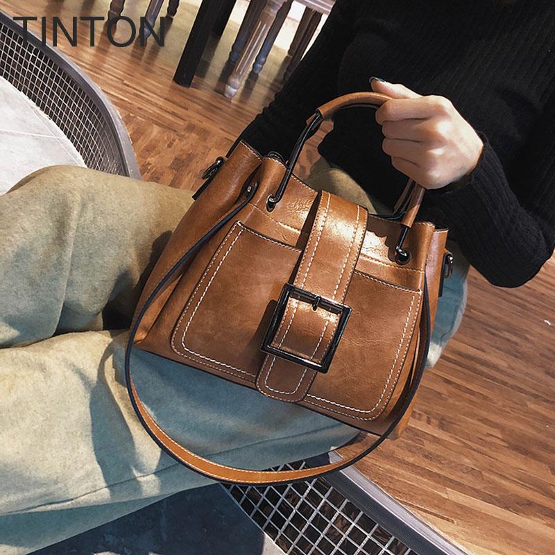 TINTON New Fashion 2018 bags for women Suede PU leather bag luxury designer crossbody bags ladies purse High end female bag 1pc women bag tassel bag designer bags ladies pu leather fashion crossbody bags for women bia195 prp