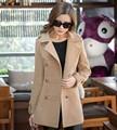 Abrigo de invierno de las mujeres negro sobretudo casaco feminino poncho abrigos mujer invierno 2016 manteau femme manteau abrigo femenino rojo