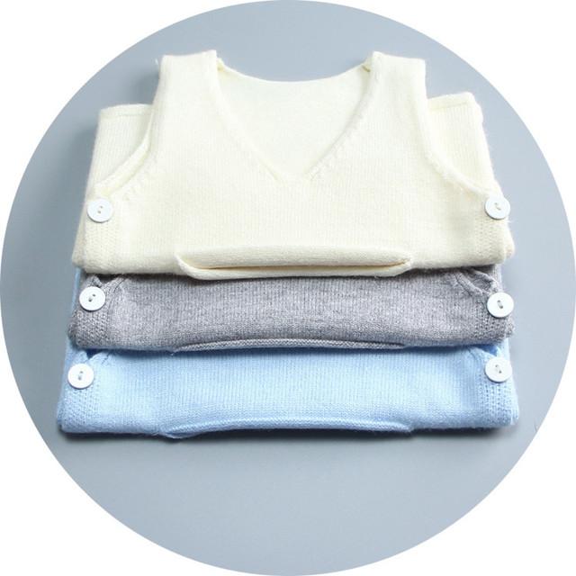 Recién nacido bebé de punto de lana suéter chaleco chaleco de los niños niños y niñas chaleco de envío de la alta calidad de los niños de la chaqueta 1-2 años
