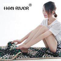 Composite Natural pebbles foot massage cushion pedicures go bai maji stone gravel road refers to linking piece carpet mat
