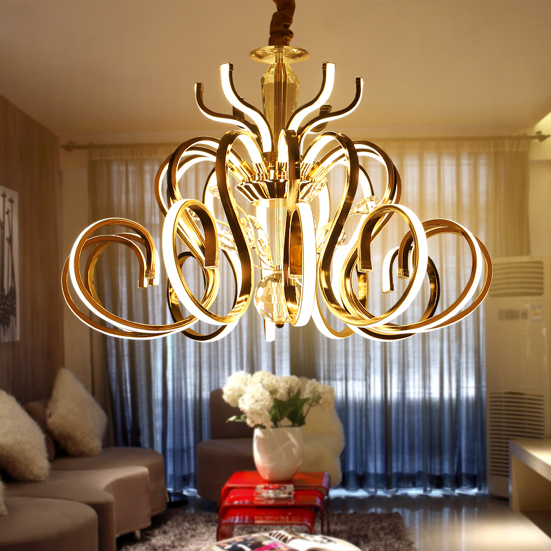 Led postmodern luxury Villa Hotel crystal living room chandelier atmosphere minimalist creative personality art restaurant lamps restaurant crystal lamp square postmodern simple stainless steel bronze villa luxury led modern crystal chandelier for bedroom