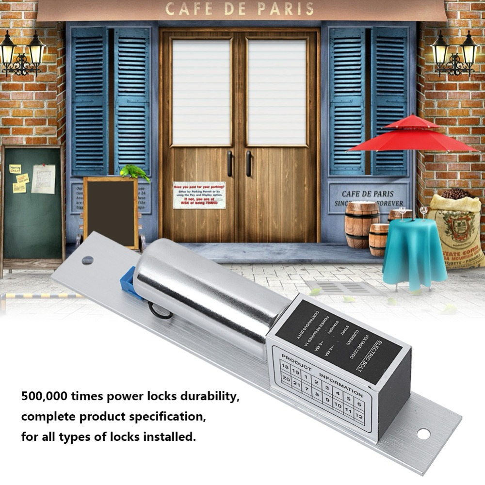 EL-2LC DC 12V Electric Magnetic Mortise Lock Auto Bolt Lock Door Lock Induction Access Control 12v 5 wire electric bolt lock electric drop bolt lock with bolt status detection output fail safe fail scure