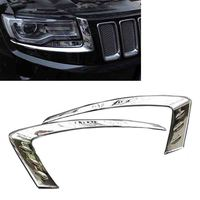 JEAZEA High Quality Car Styling 1Pair ABS Chrome Front Fog Light Lamp Cover Trim For Jeep